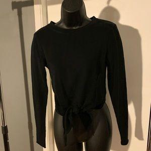 like new H&M black sweater front tie croptop 6/$14